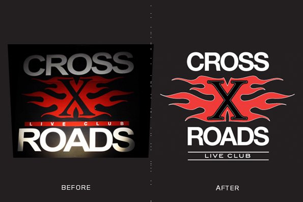 CROSS ROADS logo re-styling